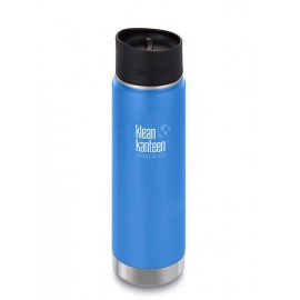 Klean Kanteen - 20oz Wide Vacuum Insulated (w/Cafe Cap 2.0)