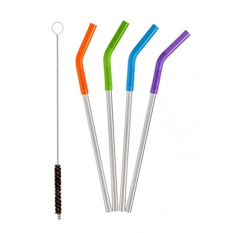 Klean Kanteen - Steel Straws 4 Pack Multicolor