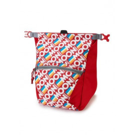 Moon - Bouldering Chalk Bag Retro Stripe True Red