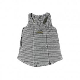 CCS - Women Tank Top White Melange/Grey Stripe